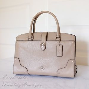 NWT Coach F37575 Grain Leather Mercer Satchel 30
